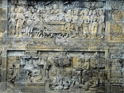 Detalle de un relieve de Prambanan