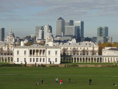 Vista del parque de Greenwich con Queen's House en primer plano