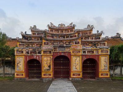 Una de las puertas de entrada a la ciudad imperial de Hue
