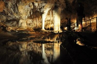 Formación Niágara dentro de Mammoth Cave