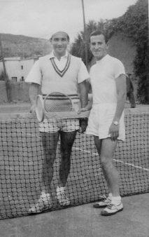 Su gran pasión: el deporte. Camepón de tenis años 1946 a 1961