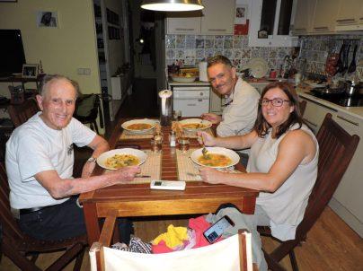 Cena que Martín cocinó en casa de nuestro anfitriones Alan i Merce