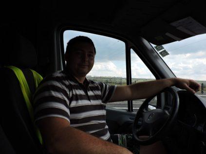 Mihai: conduciendome de Deva a Sibiu