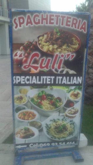 Restaurante de pasta italiana en Durres