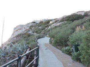 Terminando la subida al Monte Licabeto