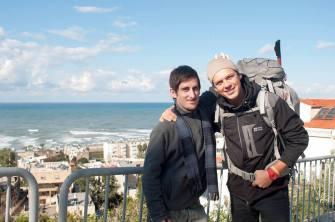 Cumpleaños en Haifa, Israel, con mi amigo ruso Vitaly