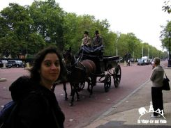 Caminando por the Mall en Londres