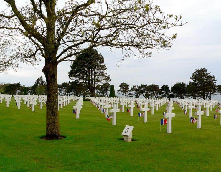 Cementerio americano Normandía Francia