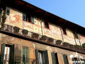 Frescos de la Plaza delle Erbe