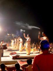 Ceremonias nocturnas en Varanasi