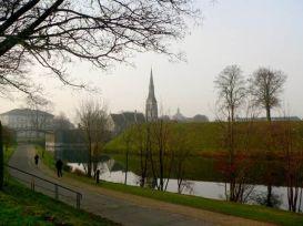 Parque Kastellet de camino a ver la Sirenita en Copenhague