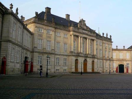 Palacio de Amalienborg en Copenhague