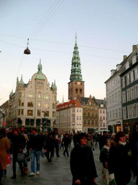 El centro peatonal de Copenhague