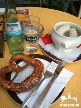 Salchichas blancas típicas de Múnich