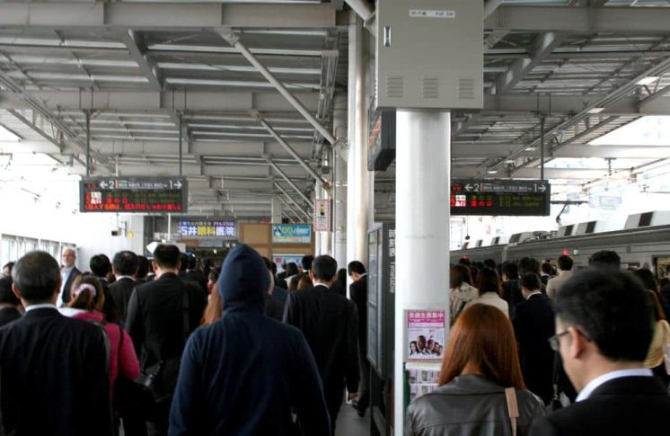 Metro de Tokio en hora punta