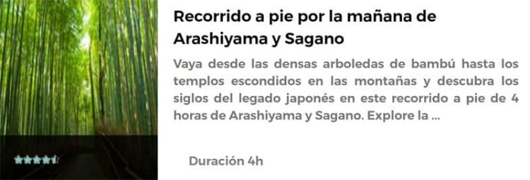 Recorrido por Arashiyama y Sagano