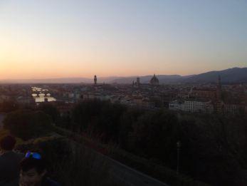 Vistas a Florencia desde Piazzale Michelangelo