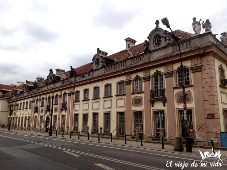 Edificios del centro de Varsovia, Polonia