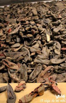 Zapatos en el Campo de Concentración de Auschwitz