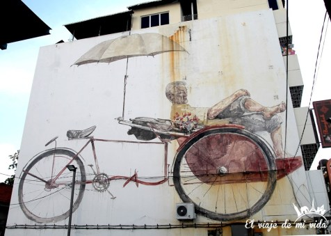 Streetart en George Town, Malasia