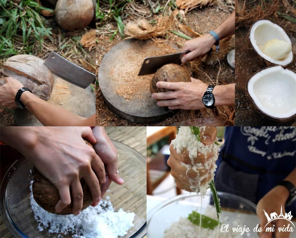 Leche de coco manual