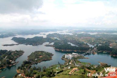 Vistas sobre Guatapé, Colombia