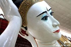Buda acostado en Rangún, Myanmar
