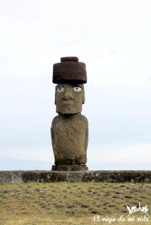 Moai en la Isla de Pascua, Chile