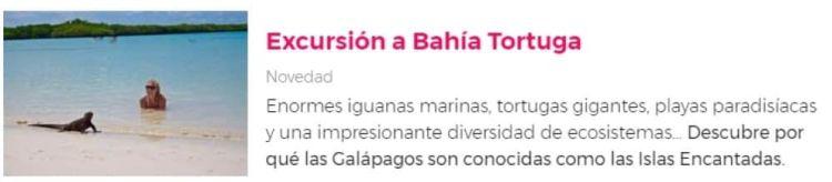Excursión Bahía Tortuga