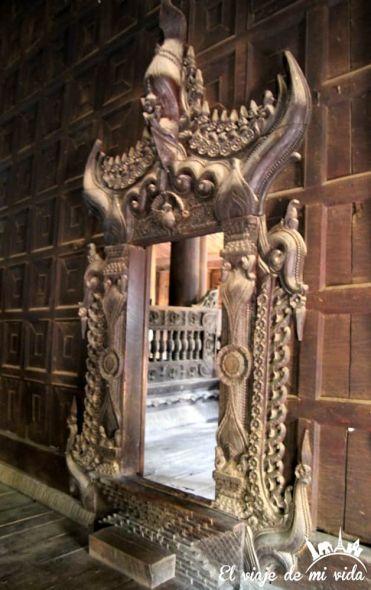 El monasterio de teca de Inwa, Myanmar