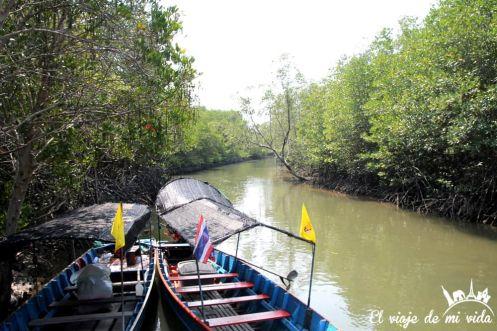 El bonito parque de Pramburi, Tailandia