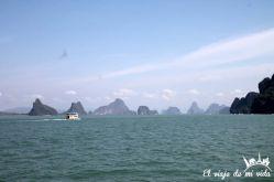 Los enormes peñones de la Bahía de Phang Nga