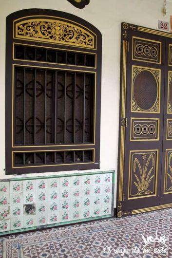Portales coloniales de Phuket Town, Tailandia