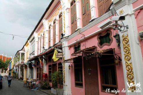 Edificios coloniales de Phuket Town, Tailandia