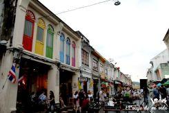 Bonitos colores de las calles de Phuket Town