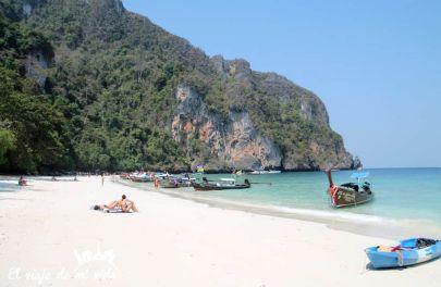 La playa de Koh Phi Phi, Tailandia