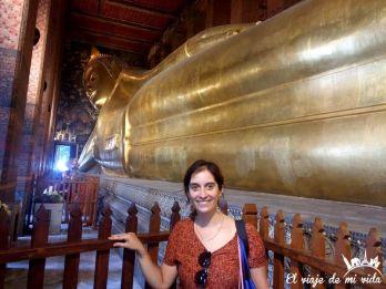 Buda reclinado de Bangkok, Tailandia