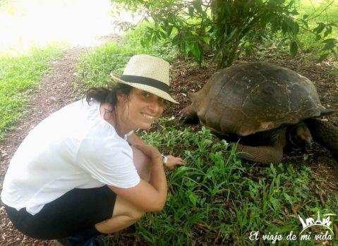 Con las tortugas... de Galápagos