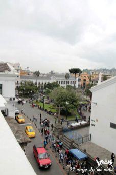 Vistas a la Plaza Independencia de Quito, Ecuador