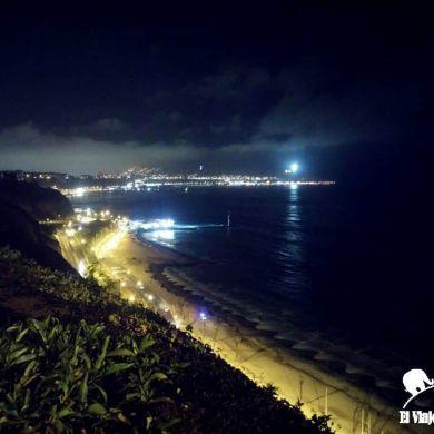 Malecón de Lima de noche