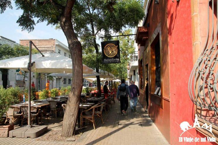El barrio de Bellavista en Santiago de Chile