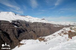 Valle Nevado a las afueras de Santiago de Chile