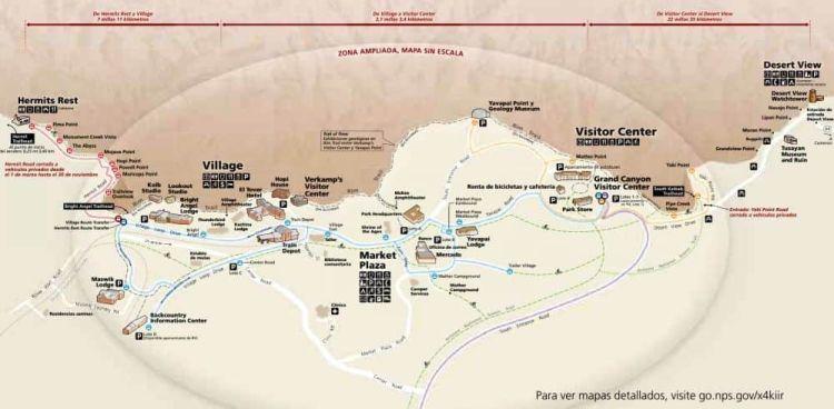 Mapa de South Rim