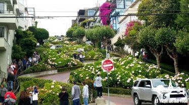 Lombard street desde abajo