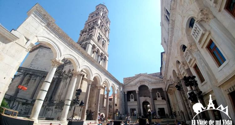 El peristilo del Palacio Dioclesiano