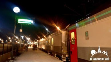 Tren nocturno en Kiruna