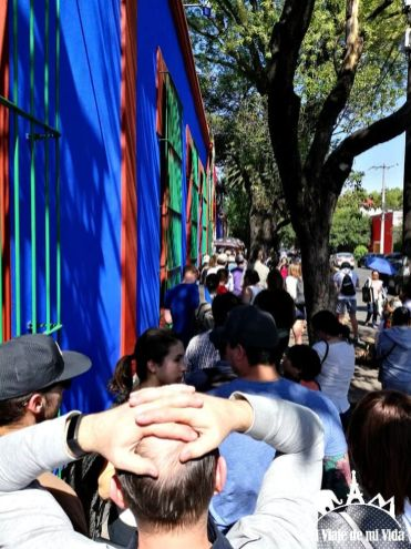Cola con entrada para el Museo Frida Kahlo