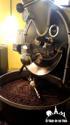 El café recién molido del Samocca