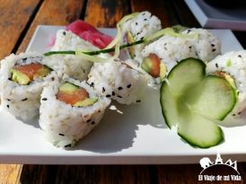 Plato de sushi: unos 10 euros