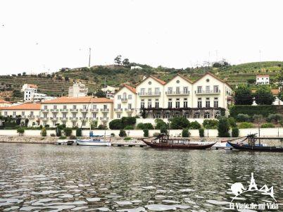 Salida de los cruceros en Pinhão